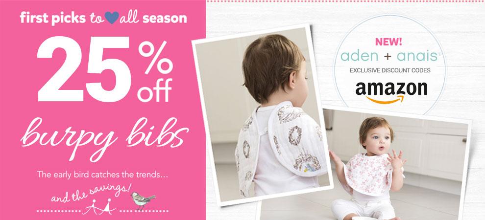 Aden + Anais Amazon Promotion Savings Banner